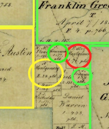 Click here to see that Andrew Montgomery did not receive this land from Stephen F. Austin and was not living here in 1830