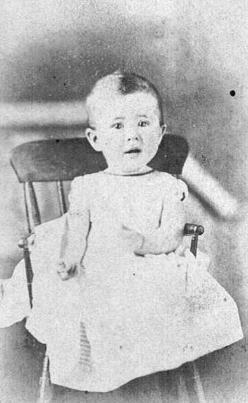 Photograph of Mary Davis When She Was a Baby
